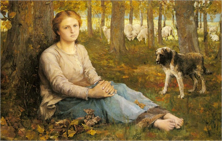 a_shepherdess_and_her_flock-John-Macallan-Swan(1847-1910)