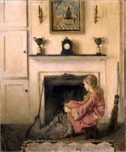 alice-sit-by-the-fire-lilian-Westcott-hale