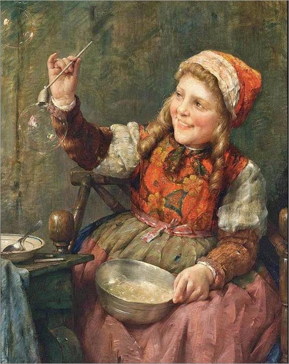 edward-antoon-portielje(belgian,1861-1949-blowing-bubbles