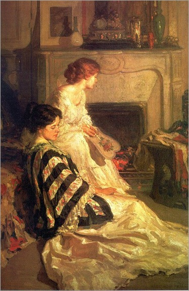 Henry_Hubbell_Salem_By_the_Fireside_1909