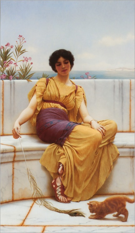 Idleness John William Godward - Idleness  -1900
