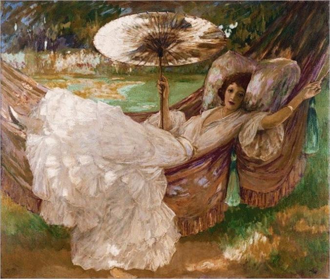 john-lavery(irlanda-1856-1941-red-hammock