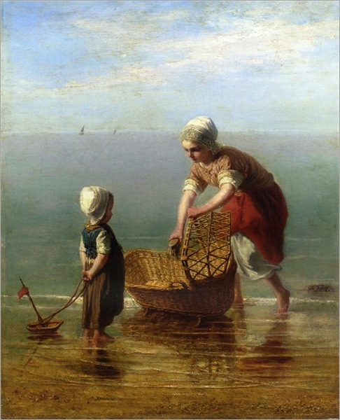 jozef-israels-mother-and-child-by-the-sea