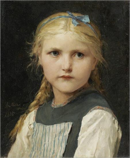 portrait-of-a-girl-Albert-Anker