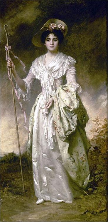 Shepherdess With Her Crook-Thomas-B-Kennington