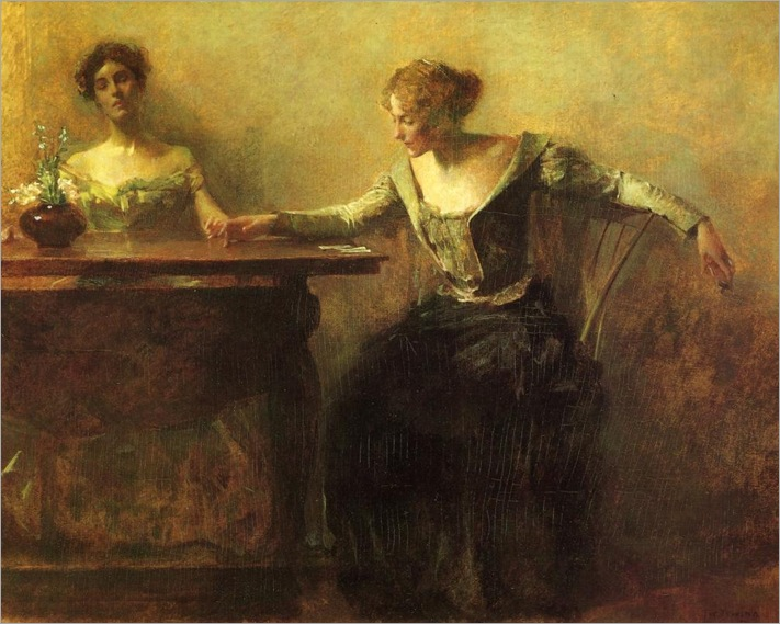 The Fortune Teller-Thomas-Dewing