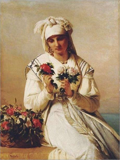 jeanfrancois_portaels_belgian_choosing_the_rose