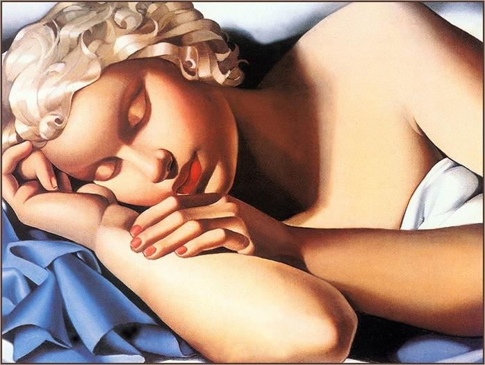 sleeping-woman-Tamara-de-Lempicka