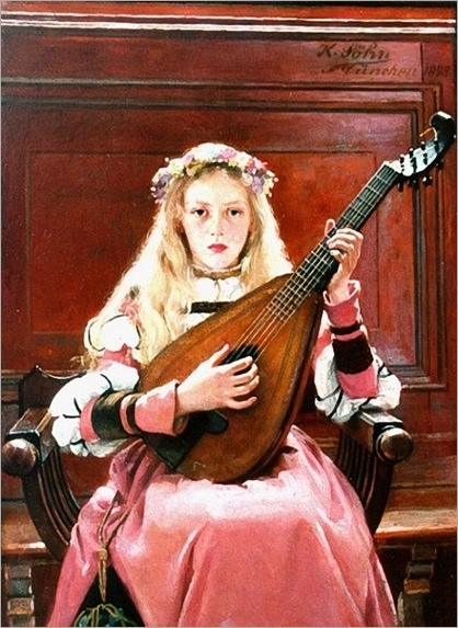Sohn_Karl_Wilhelm_A_Girl_with_a_lute_1898