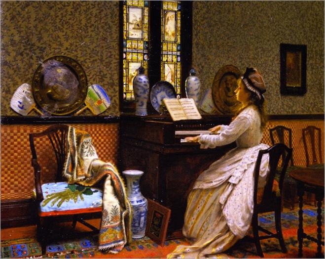 the-chorale-1878-John Atkinson Grimshaw