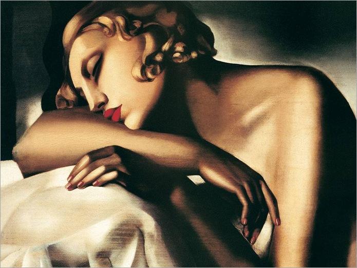 the-sleeper-Tamara-de-Lempicka