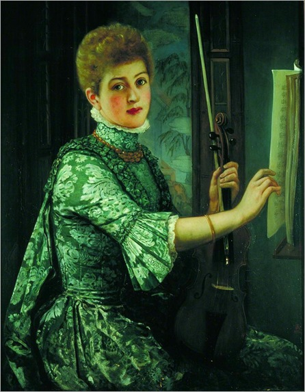 the-violinist-1886-George Adolphus Storey