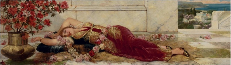A Languid Harem Beauty-Semenowsky