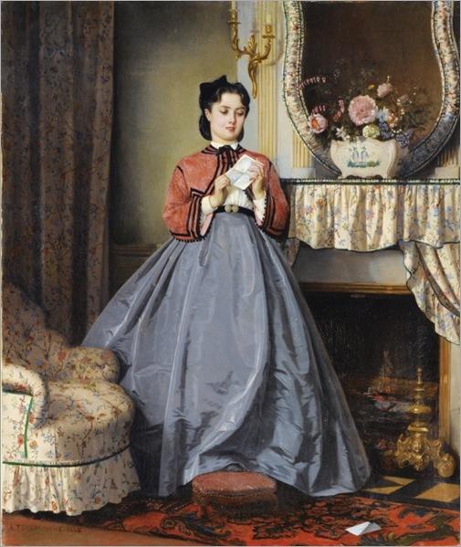 Auguste-Toulmouche(1829-1890-french)-la-lettre-d´amour_600x712