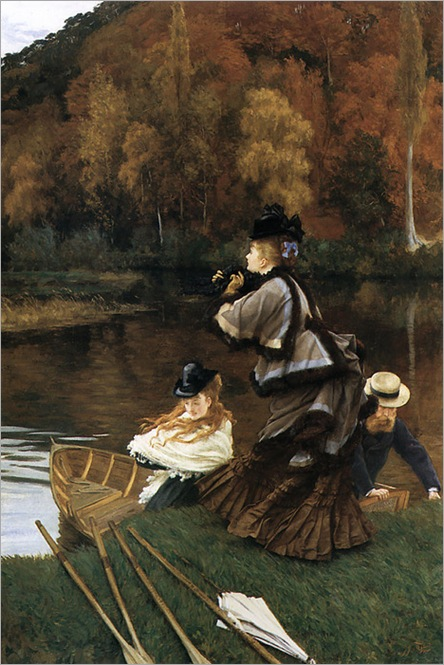 autumn on the Thames by James Tissot, 1872