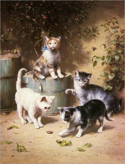 CarlReichert-kittens_playing_with_beetles