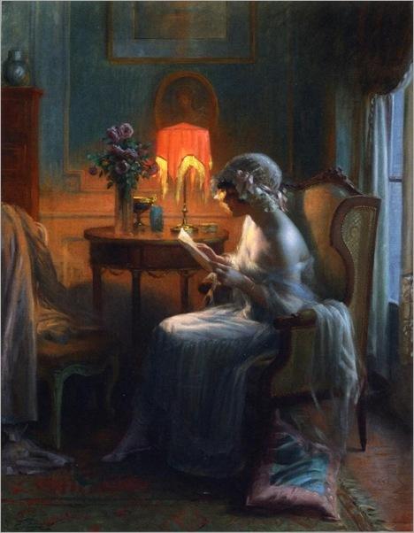 Delphin Enjolras, Reading a Letter