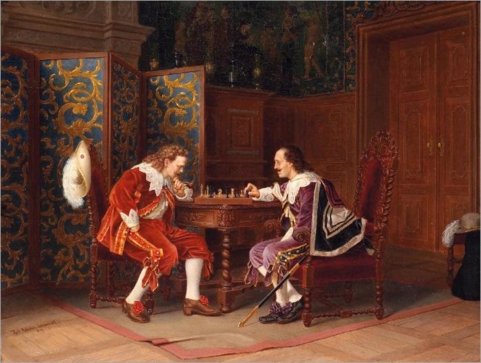 eduard-allan-schmidt-mosqueteiros-jogando-xadrez-no-salão