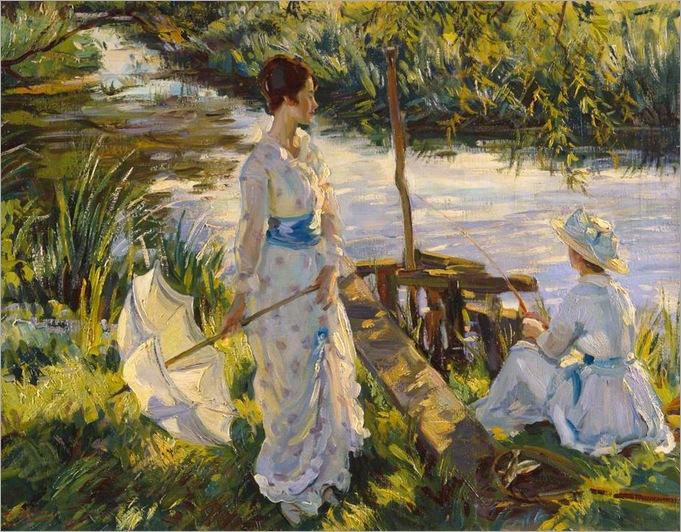 fishing-1932-Wilfrid Gabriel de Glehn