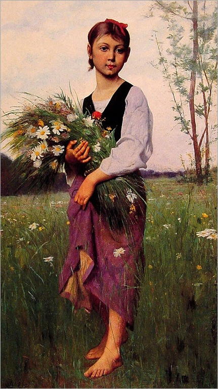 françois-a-delobbe the_flower_picker