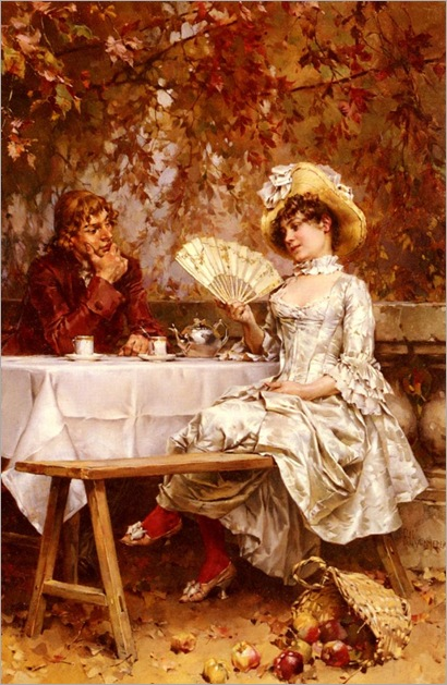 frederick-hendrik-kaemmerer-dutch-1839-1902-tea-in-the-garden-autumn