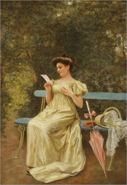 G. dalla Noce, XIX century, The love letter