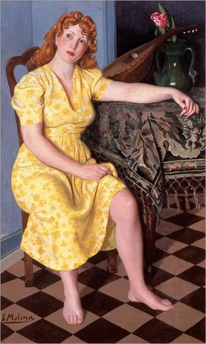 jesús-molina-1903-1968-mujer-amarillo