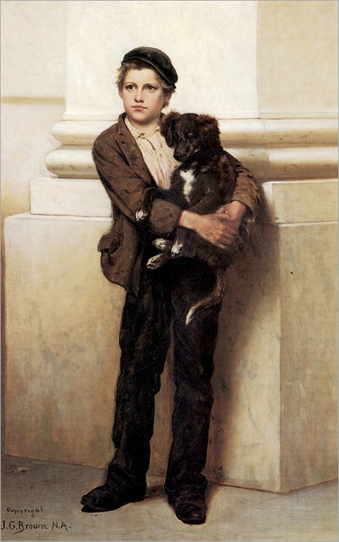 John-George-Brown-Frank-and-His-Dog-Private-Collection