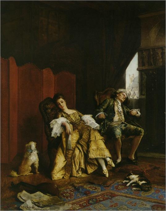 Knight_Daniel_Ridgway_Elegant_Figures_in_an_Interior_1875