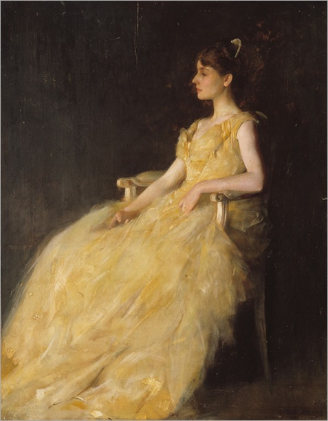 Lady in Yellow by Thomas Wilmer Dewing