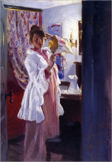 Peder-Severin-Kroyer-Interior with the Artist's Wife