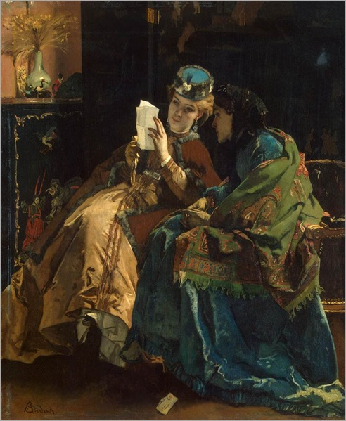Pleasant Letter by Alfred Stevens