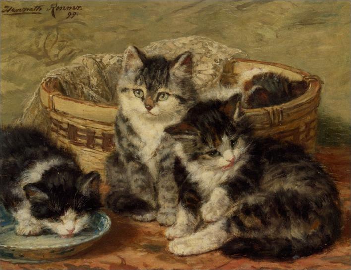 Ronner_Knip_Heriette_Four_Kittens_1899