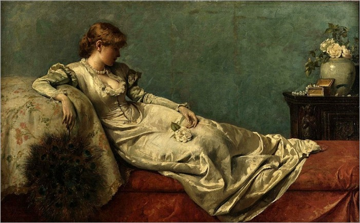 the-peacock-fan-Henry-Thomas-Schafer(1873-1915)