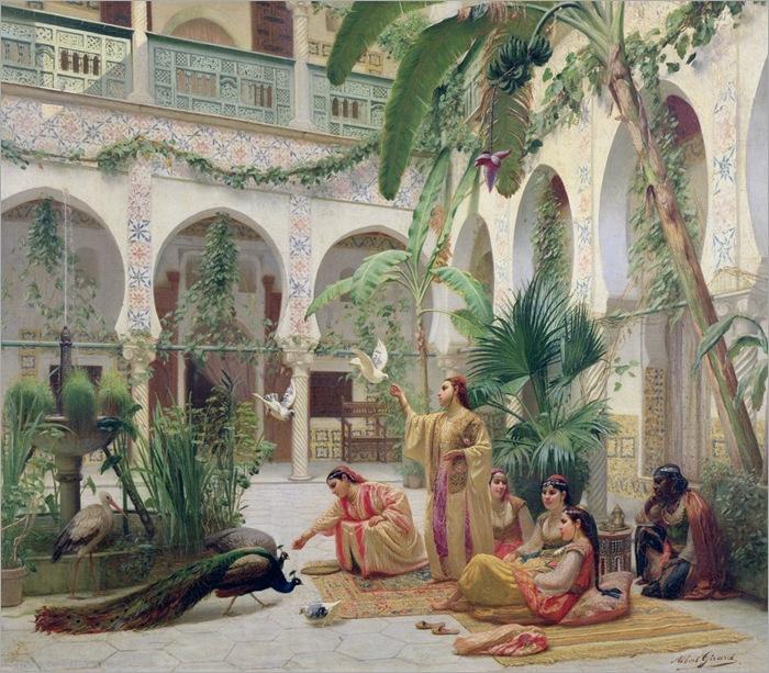 Albert-Girard-the-court-of-the-harem-