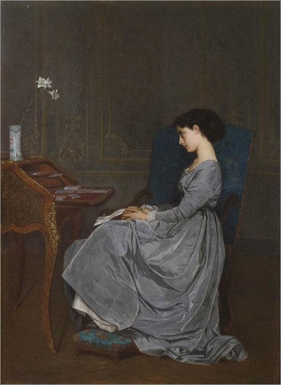 Auguste Toulmouche -The Letter-1867