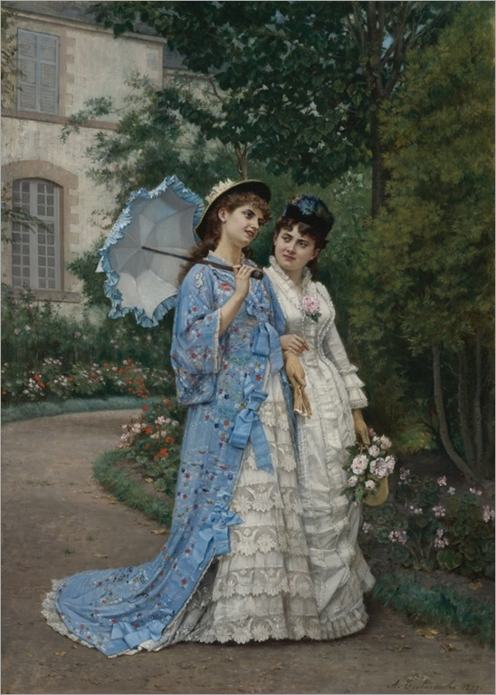 AUGUSTE_TOULMOUCHE(french-1829-1890)-a-garden-stroll_731x1024
