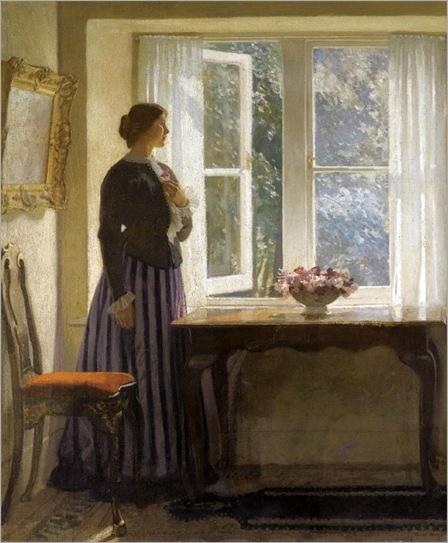 by-the-window-Harold-Knight