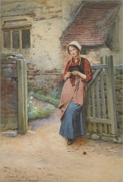 Carlton-Alfred-Smith-1853-1946-AT THE GARDEN GATE_691x1024
