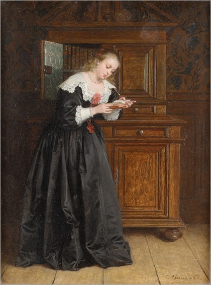 Charles François Pécrus (1826 - 1907) - The favourite novel, 1867
