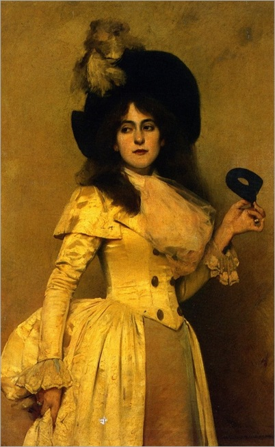 Charles Sprague Pearce (1851-1914) - The masquerade ball