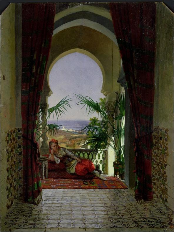 david-emil-joseph-de-noter-an-odalisque-on-a-terrace