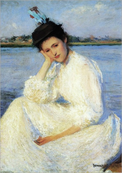 Edmund Charles Tarbell (1862 – 1938)-A Lady 1891
