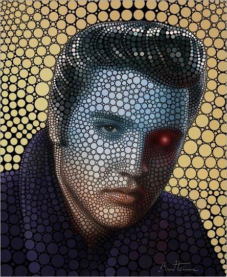 Elvis-Presley-by-Ben-Heine