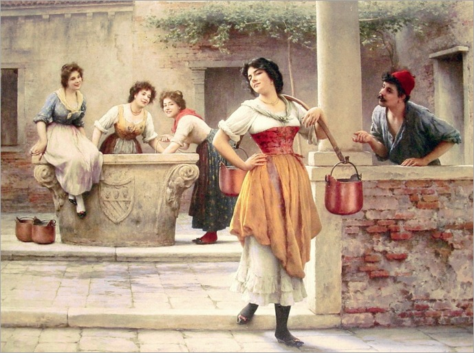 eugene-de-blaas-1843-1932-flirtation-at-the-well