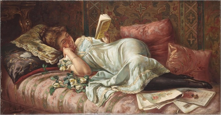 Fabio Cipolla (Rome 1852-1935) _Amusing Reading