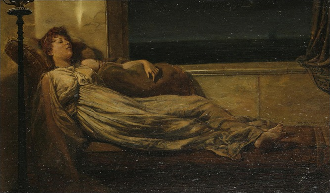 Frank Hobden (1879-1930) - A classical lady in repose