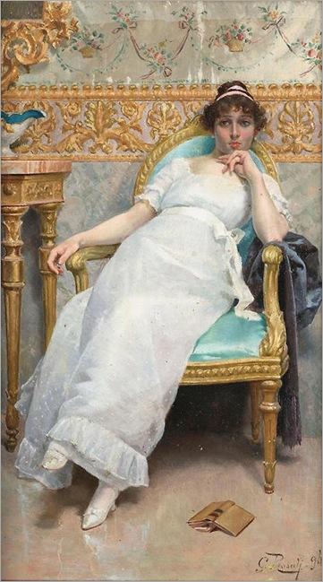 Giulio Rosati (1858 - 1917) - Contemplation, 1896