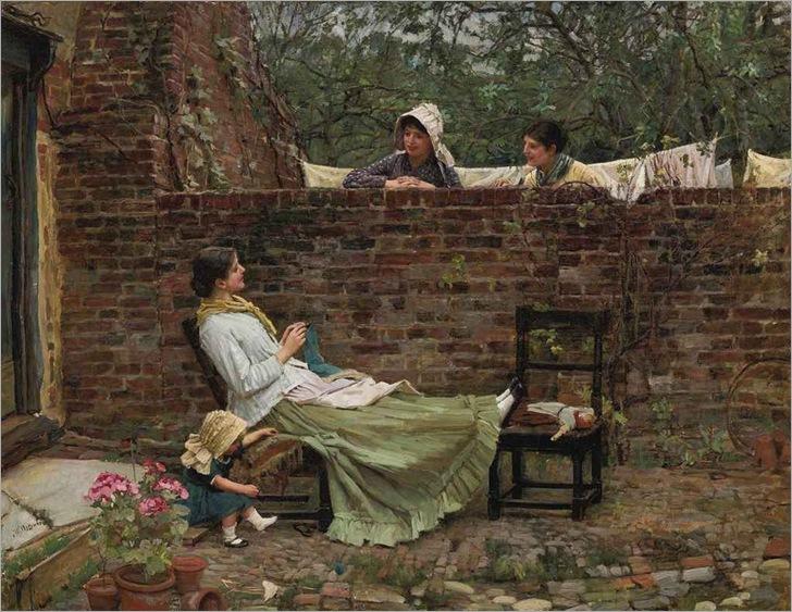 gossip-by-John-William-Waterhouse