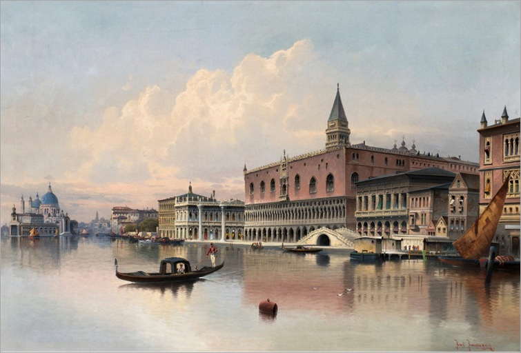 karl-kaufmann(áustria-1834-1902-view-from-Venice